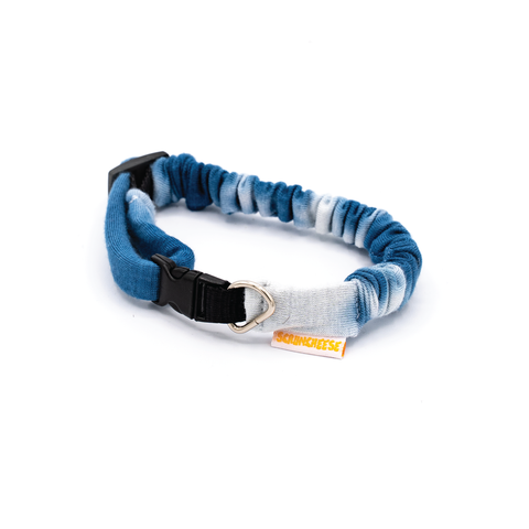 Blue Tie Dye Dog Collar