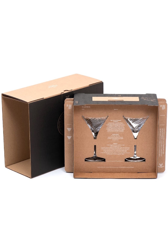 Isle of Harris Martini Glass Twin Gift Set