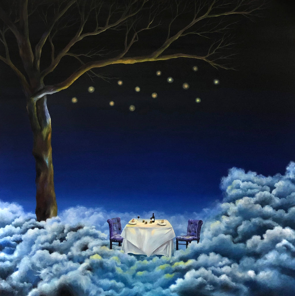 A glorious dinner under the twinkle tree