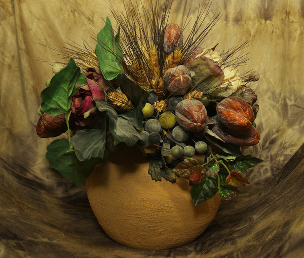 Aged Fruit And Plant Bowl