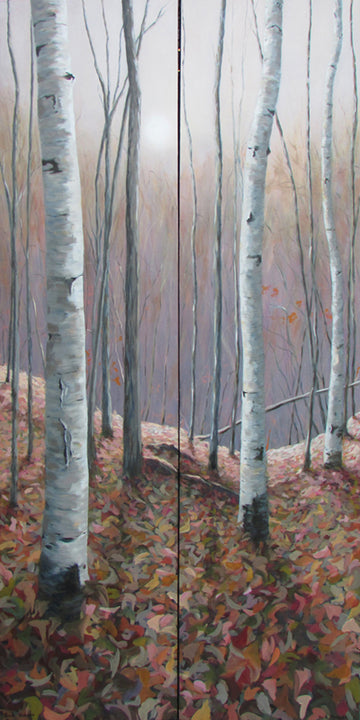 Autumn Glow I and II Diptych