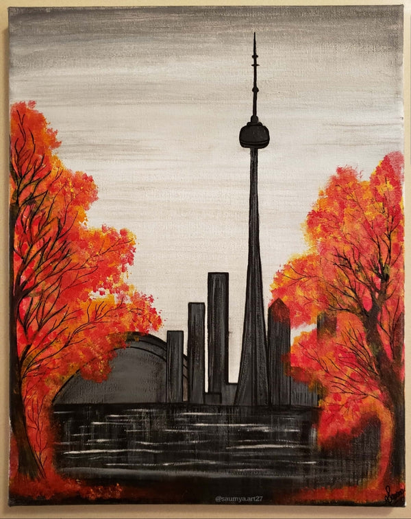 CN Tower and fall season