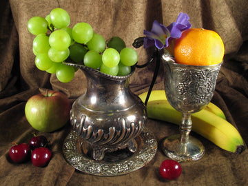 Fruit Still Life With Silver