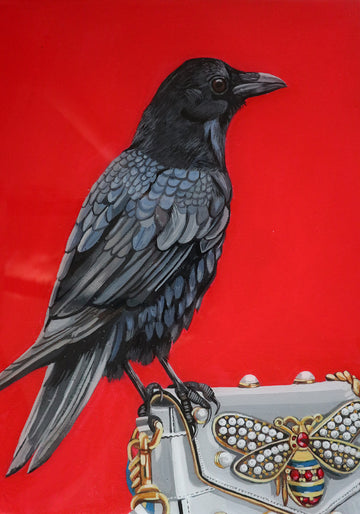 Crow on Gucci Purse