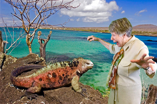 Margaret in the Galapagos