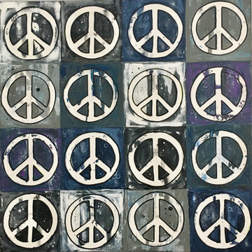 Shades of Grey Peace Signs