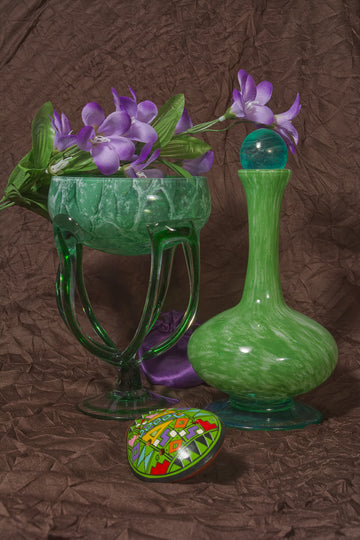 Swirling Green Glass