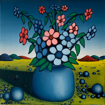 Vase with Flowers in the Prairies