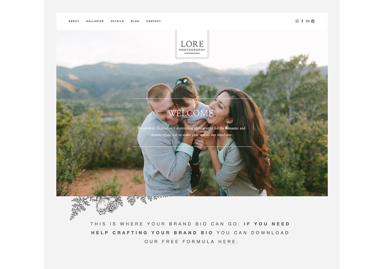 LORE Go Live Template Homepage