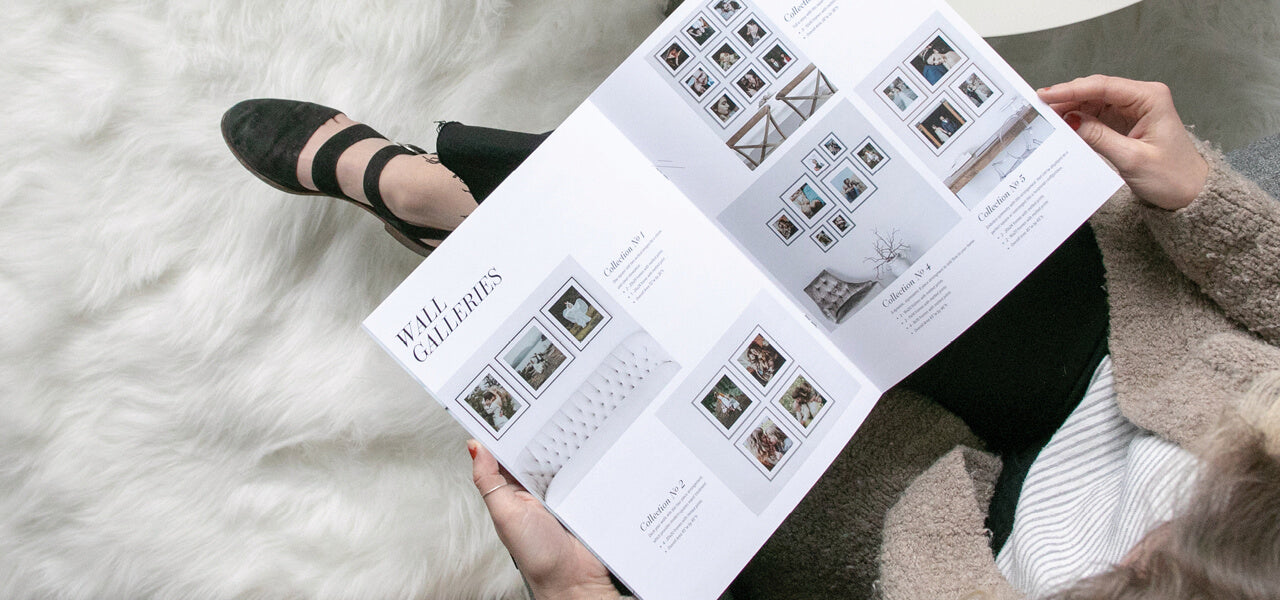 Woman looking at Photography Lookbook