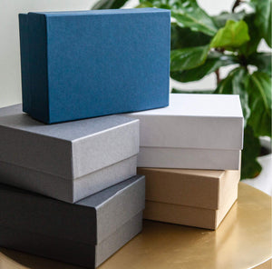 4x6 Proof Boxes - Navy, Charcoal, White, Black & Kraft