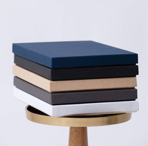 Print Boxes for Photographers - Navy, Black, Kraft, Charcoal, White