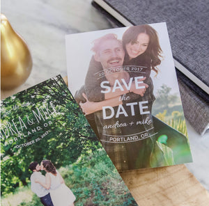 Save the Date Cards: Modern Minimalist Collection
