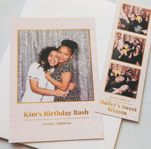 Photo Booth Templates: Glimmer & Gold Collection