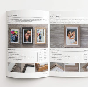 Frame Shop Sales Catalog & Lookbook