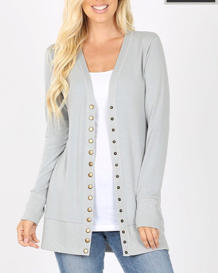 Button Up Pocket Cardigan