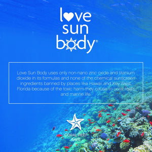 Love Sun Body 100% Natural Moisturizing Mineral Face Sunscreen SPF 30 Natural Vegan Cruelty Free Organic Reef Safe Hypoallergenic Non-Comedogenic