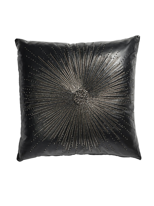 Alonso Embroidered Nappa Leather Cushion