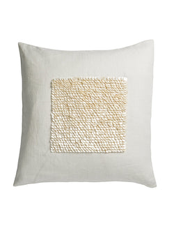Grace Embroidered Linen Cushion