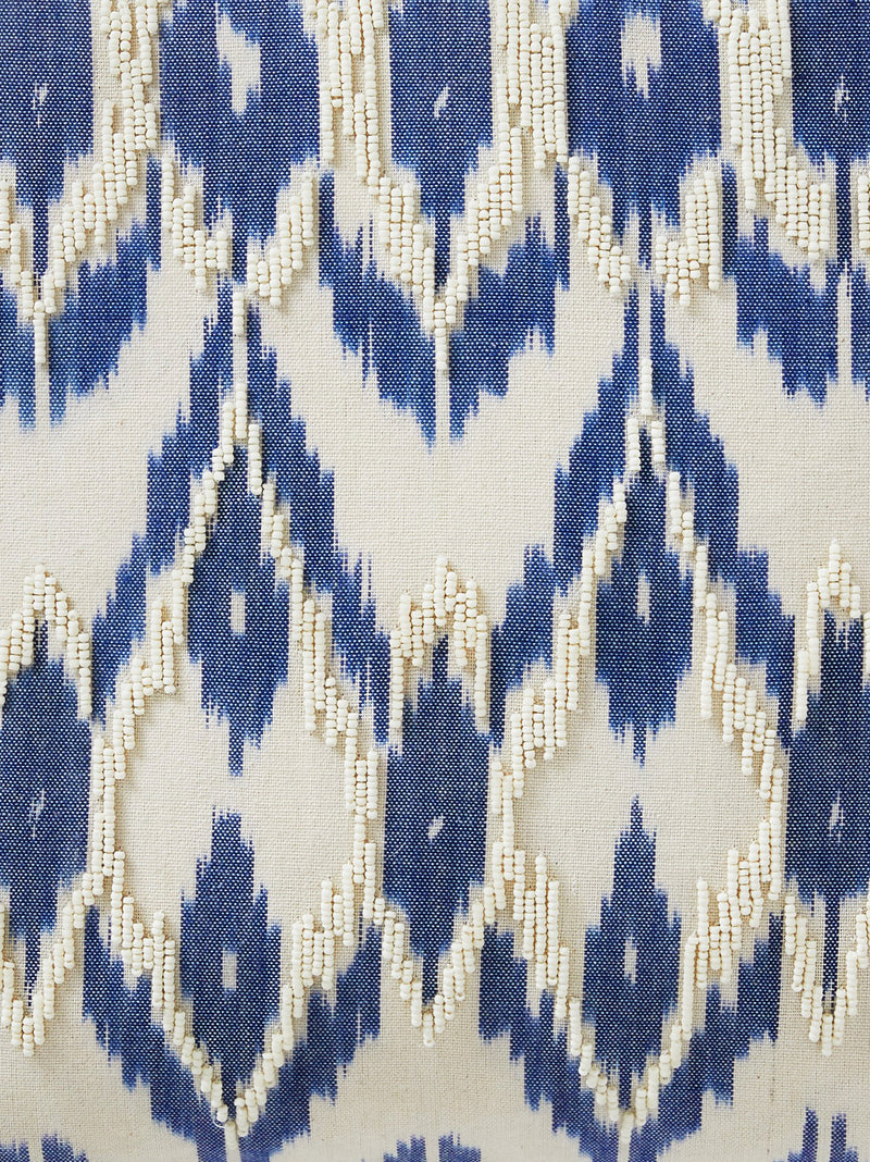 Ikat Hand Embroidered Cushion