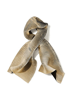Bonded suede and cashmere mesh scarf