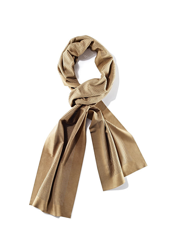 Simply Suede scarf with micro perforations