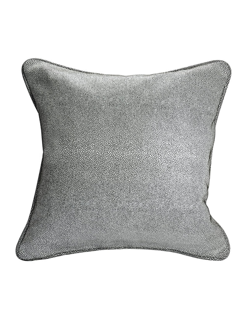 Galuchat Shagreen Pattern Embossed Suede Cushion