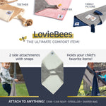 SwaddleBee Navy/Grey LovieBee 2.0 Security Blanket
