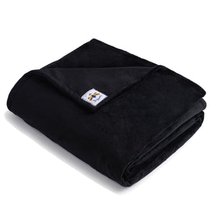 SwaddleBee Black BiggerBee Minky Throw Blanket