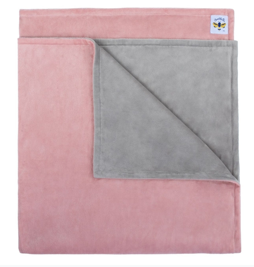 SwaddleBee Dusty Pink/Grey MinkyBee