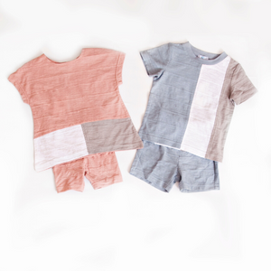 Whitlow & Hawkins Color Block Baby Set