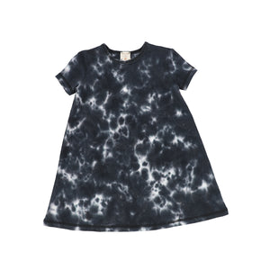Lil Legs Watercolor Short Sleeve Dress
