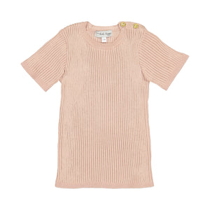 Lil Legs Ribbed Knit SS Tops-SS19