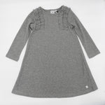 Deux Par Deux Ribbed Sparkle Dress-Grey
