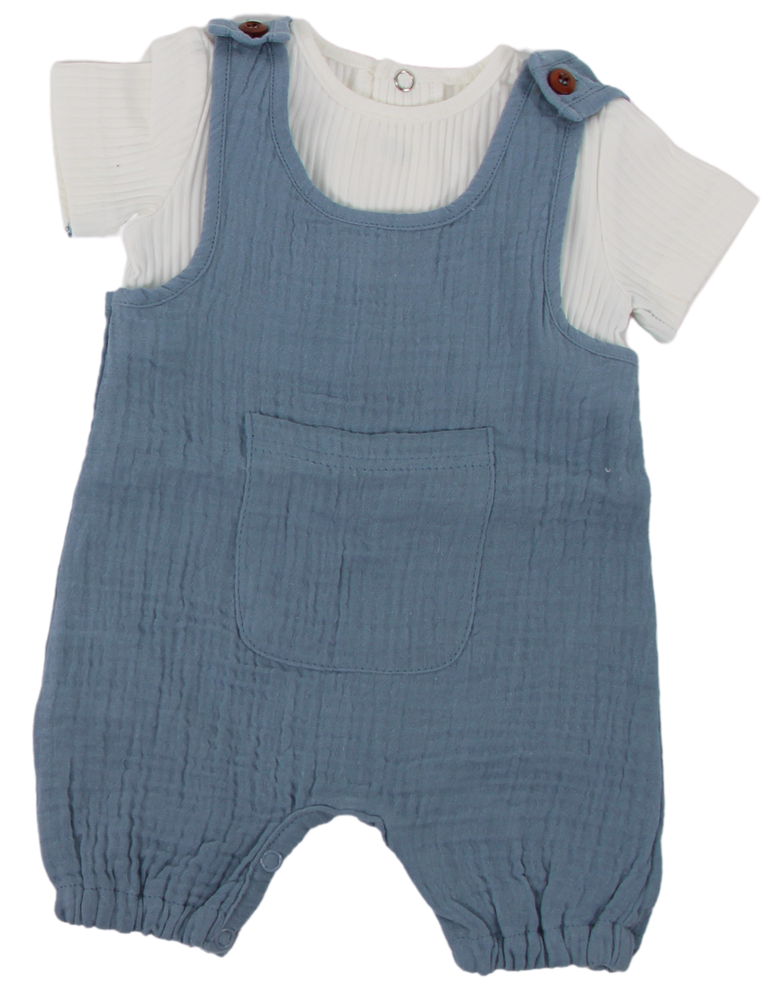 Blinqi Muslin Overall Romper