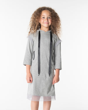 Three Bows Princess Hoodie Dress