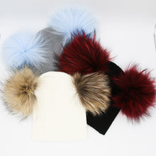 Load image into Gallery viewer, Winter double pom hat