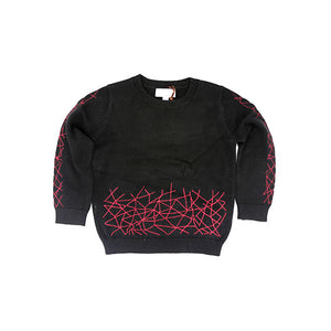 Amourie Black and Burgundy Sweater