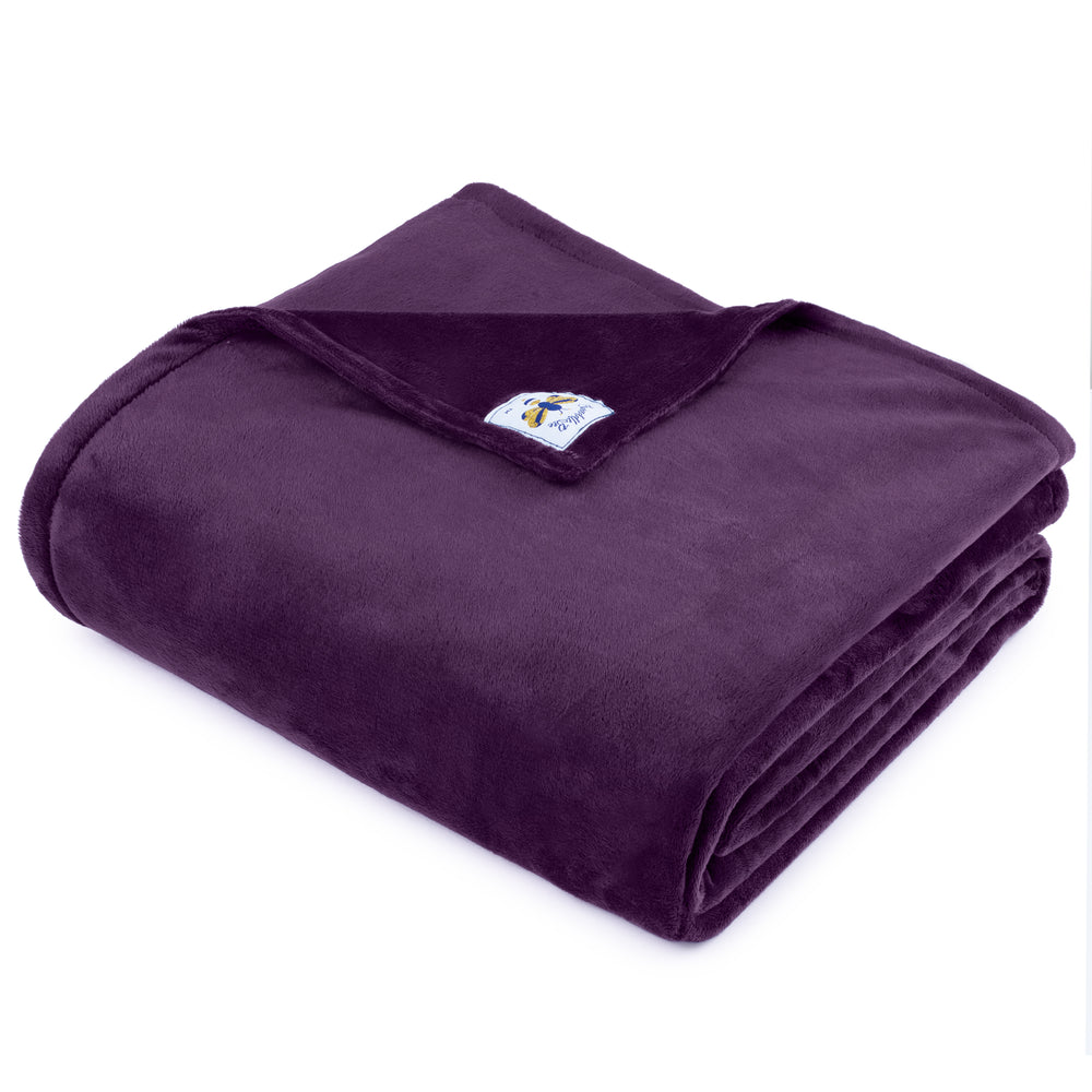 SwaddleBee Jewel Purple BiggerBee Minky Throw Blanket