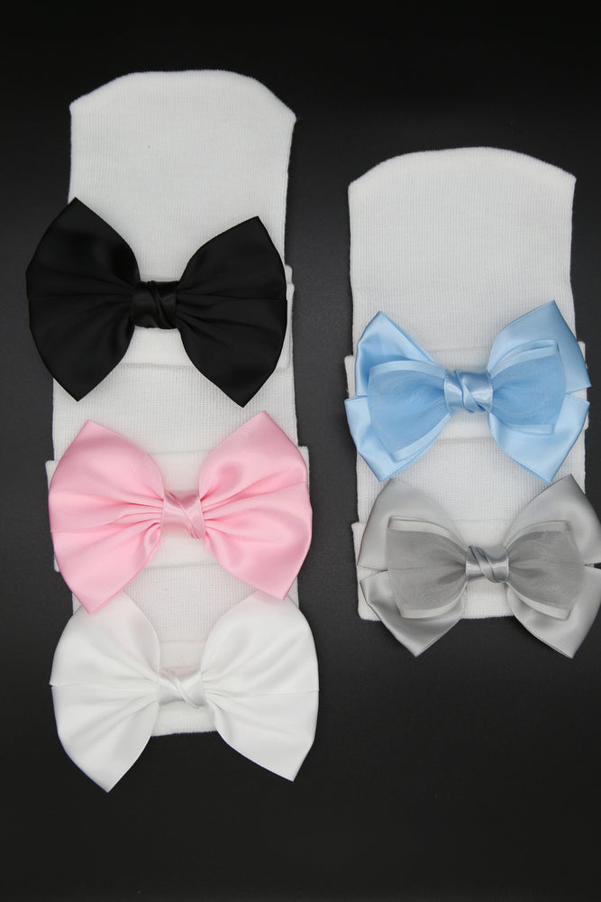 Satin Bow Hospital hats