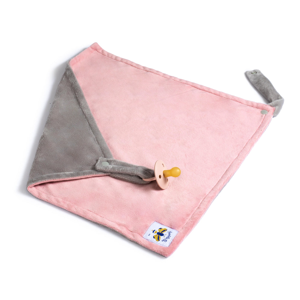 SwaddleBee Dusty Pink/Grey LovieBee 2.0 Security Blanket