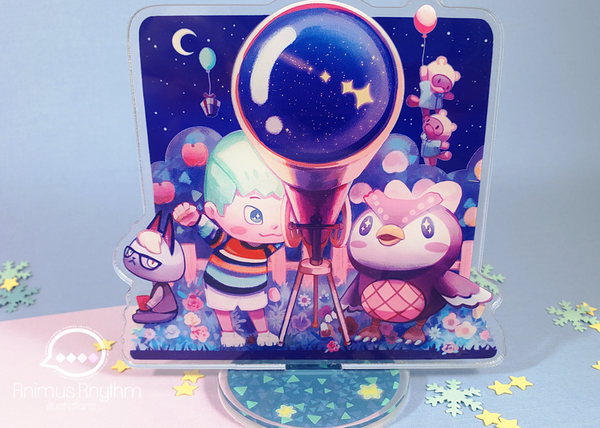 Animal Crossing New Horizon Double Sided Acrylic Standee Nintendo Celeste Raymond ACNH