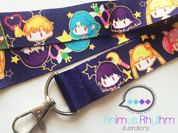 Sailor Moon Lanyard anime badge holder sailor scout