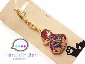 Golden Acrylic straps charm: RWBY Ruby Rose Anime