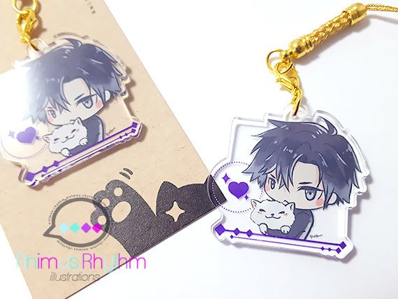 [FINAL SALE] Crystal Clear Acrylic straps charm: Mystic Messenger