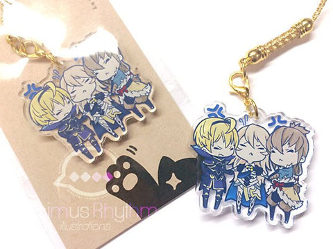 Crystal Clear Acrylicstraps charm: Fire Emblem Hero Fates Leo Takumi Corrin Conquest Birthright