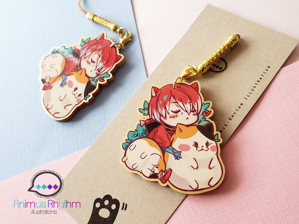 Final Fantasy XIV Golden Acrylic strap charm: Crystal Exarch G'raha Tia Fat Cat 2 inch FF14 FFXIV
