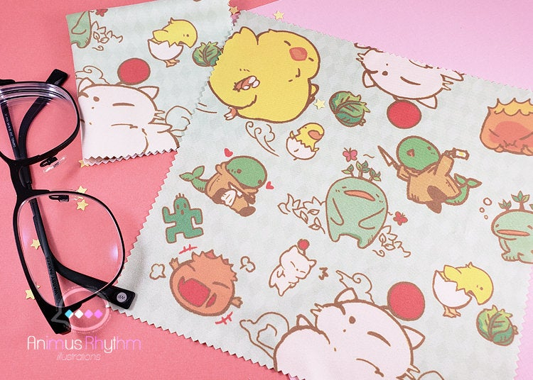 Final Fantasy Mascot Microfiber Cloth 7.5"