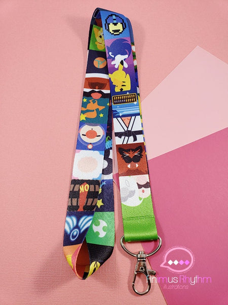 Super Smash Bros Ultimate Lanyard badge holder game d