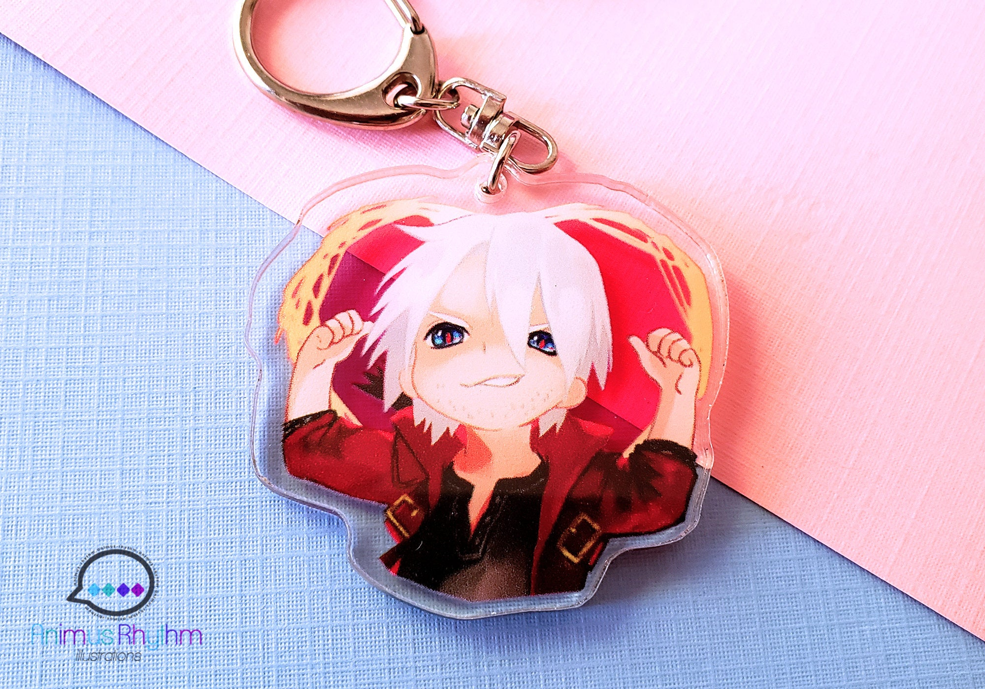 Devil May Cry 5 Clear Acrylic Keychain 2in double sided Dante Nero V game